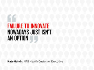 Quote which states: Failure to innovate these days just isn't an option