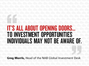 Quote which states: It's all about opening doors... to investment opportunities individuals may not be aware of.""