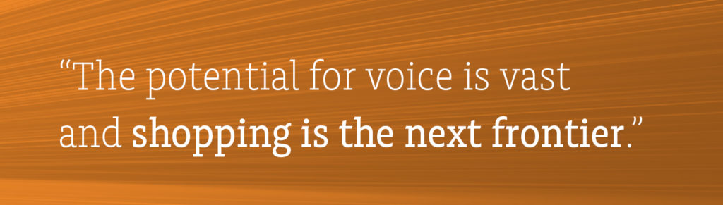 """The potential for voice is vast and shopping is the next frontier."""